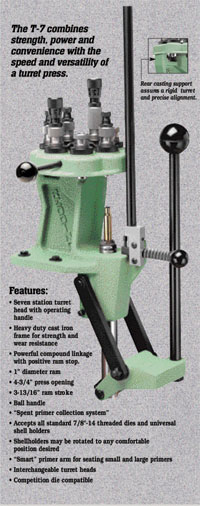T 7 Turret Reloading Press Redding Reloading Equipment